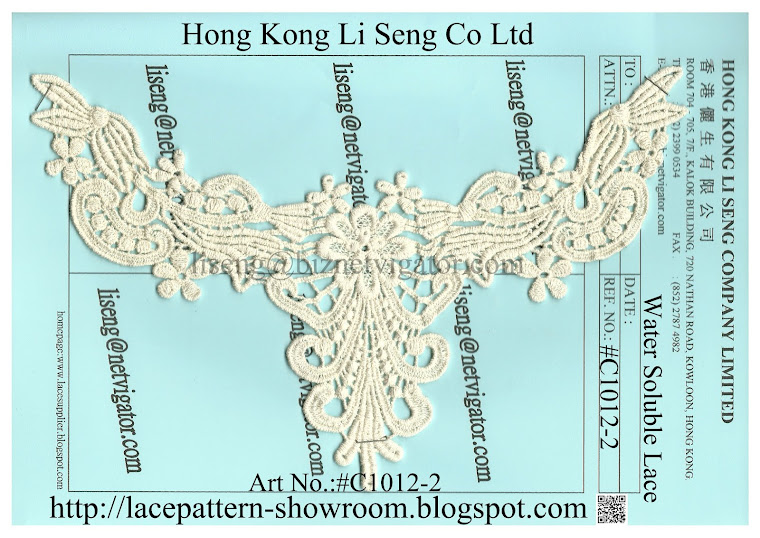 Water Soluble Lace Motif Art No.:#C1012-2