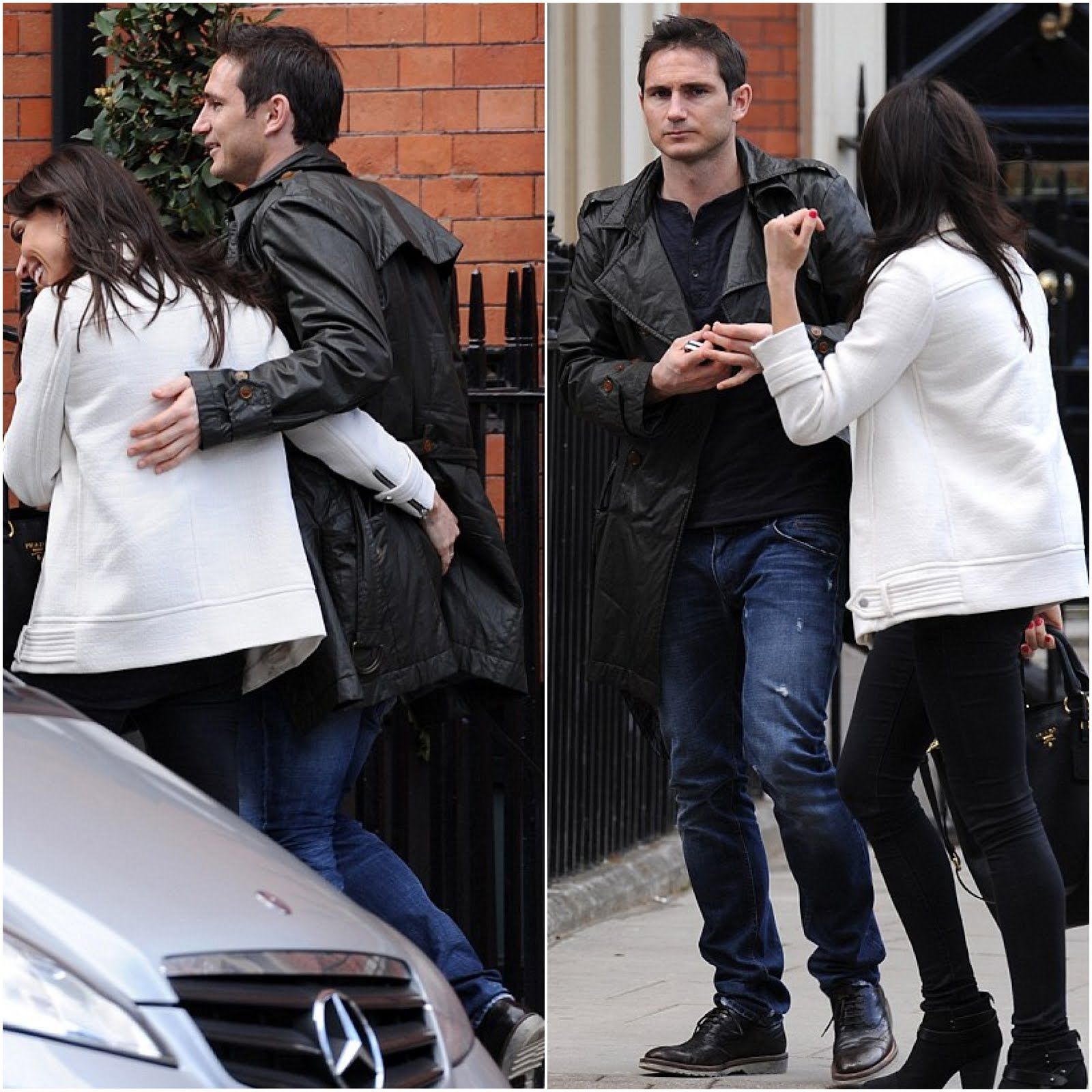 00O00 Menswear Blog: Frank Lampard in Vivienne Westwood MAN resin coated trenchcoat - London street style April 2013
