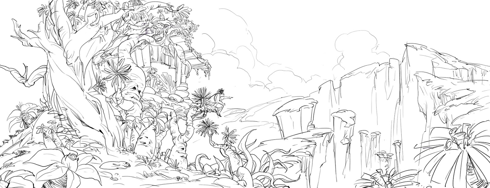 Line Drawing Nature : The concept art for dreamworks tree house jayproductsv