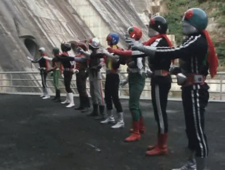 The veteran nine Kamen Riders