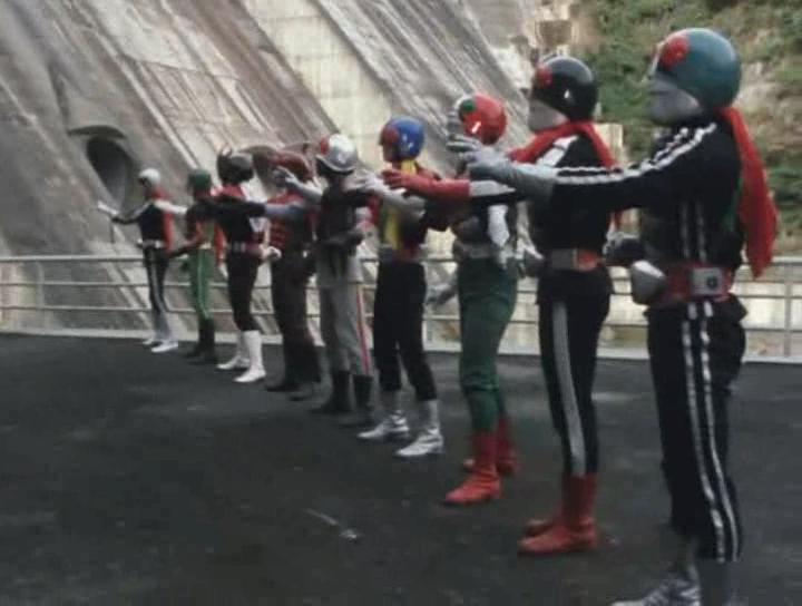 The veteran nine Kamen Riders