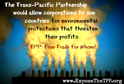 "Thanks to leaked TPP chapters, we know exactly what the ""free trade"" agreement would mean for the e"