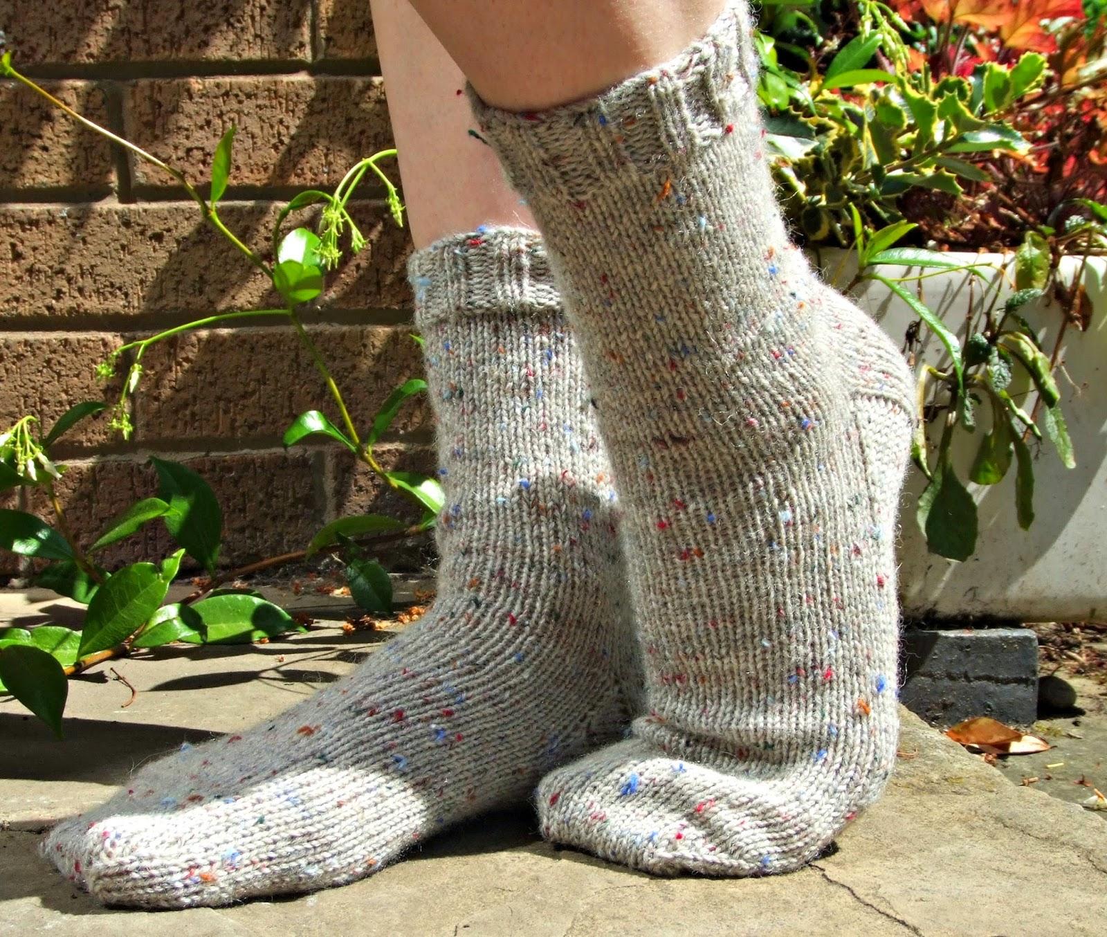 Knitting Pattern For Socks On Five Needles : Winwick Mum: Basic 6ply boot socks - free pattern and tutorial