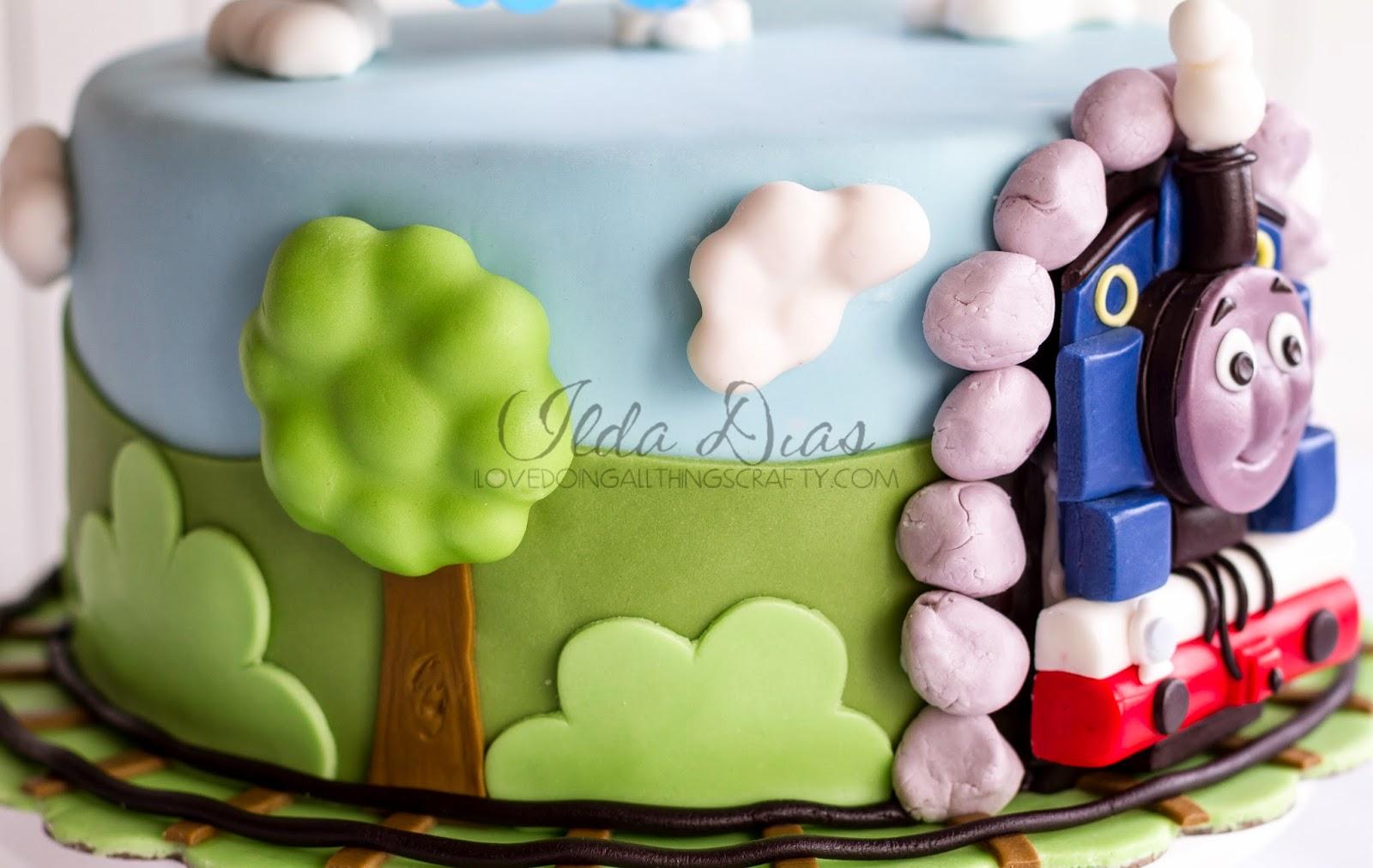 I Love Doing All Things Crafty Thomas The Train Birthday Cake