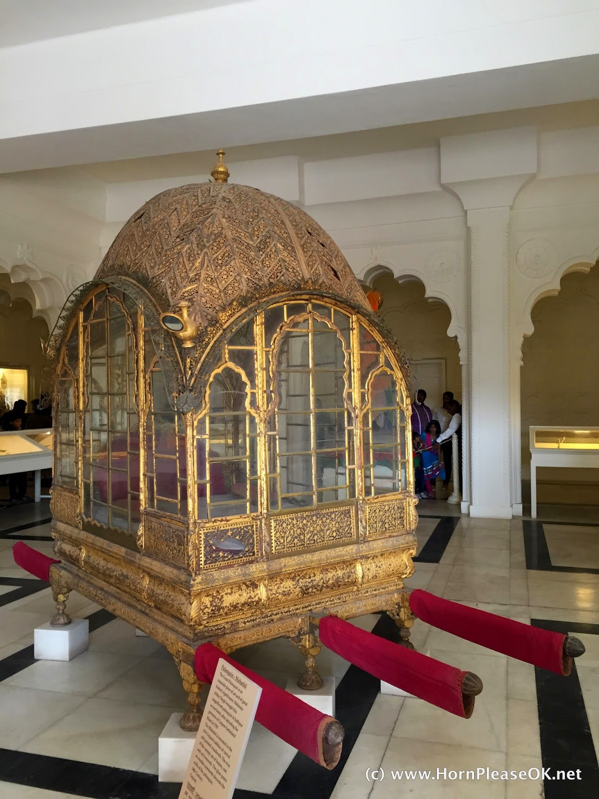 A gold palanquin belonging to the Marwar royal family