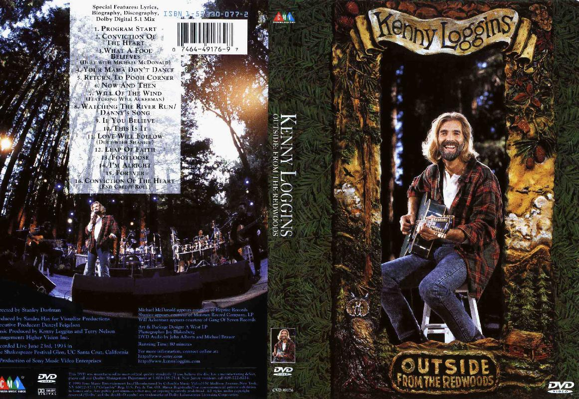 Cat logo dvd m sica kenny loggins outside from the redwoods for 1980 floor show dvd