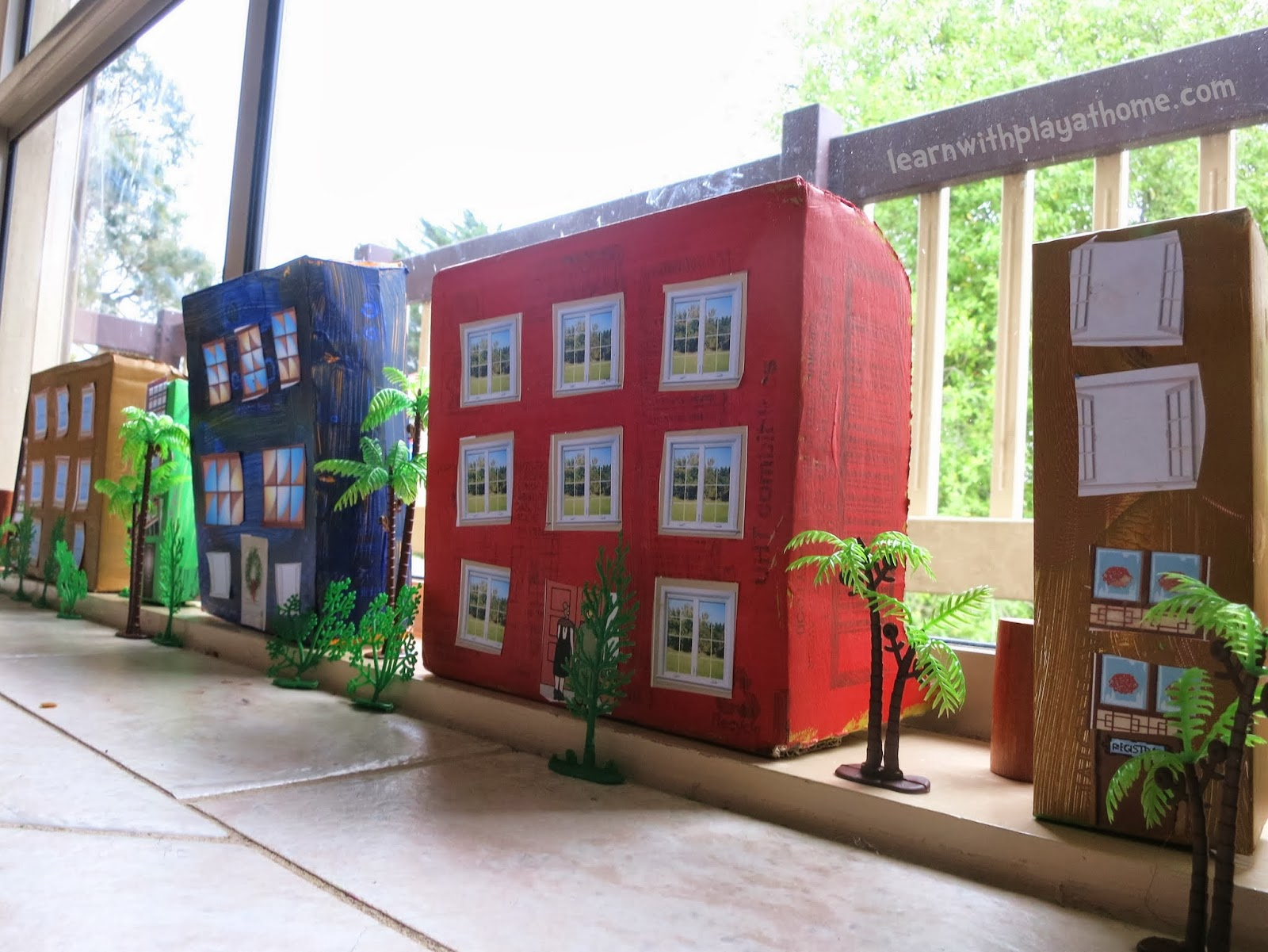 Learn with play at home create a box city cutting for The model apartment play