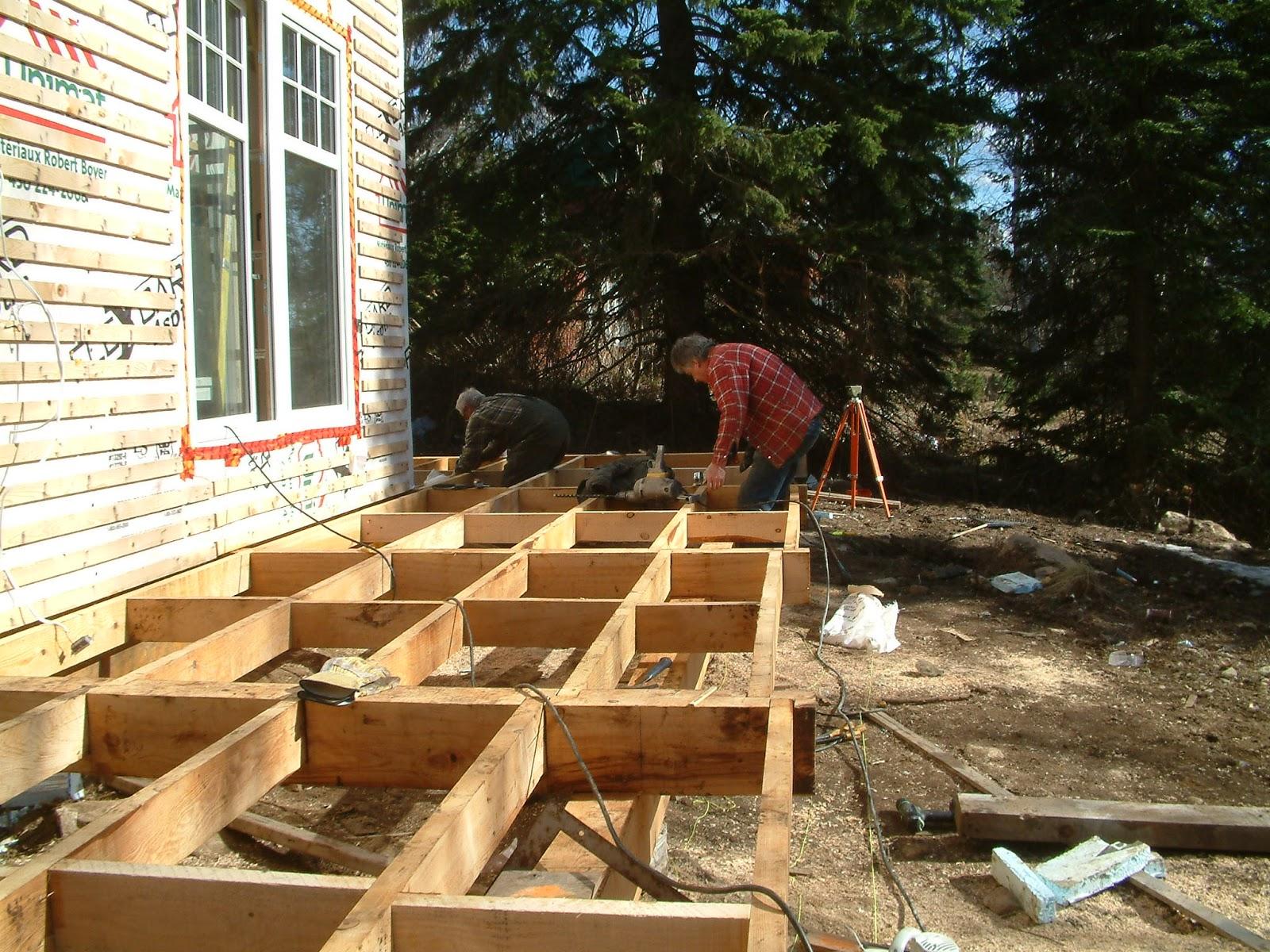 Le projet timber frame de c line et pierre timberframe - Porte terrasse ...