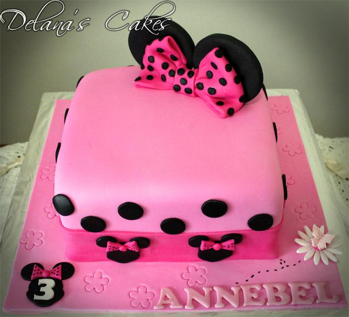 Delanas Cakes Minnie Mouse Square Cake