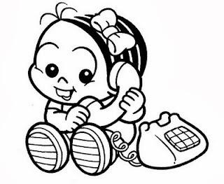desenho da monica bebe para pintar