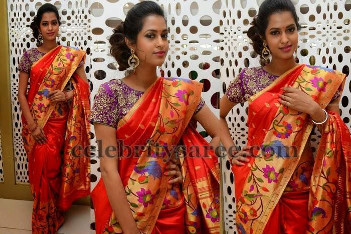 Pooja Kiran Pythani Saree