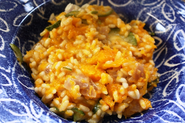 THE HUNGRY VEGGIE: ROAST SQUASH & COURGETTE RISOTTO