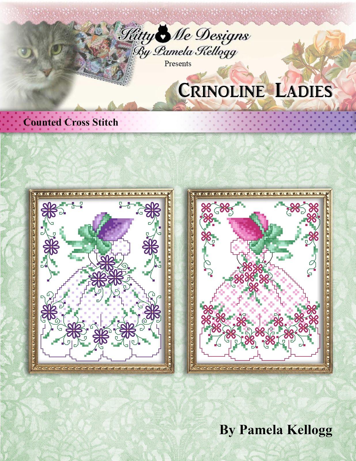 Crinoline Ladies Cross Stitch Pattern