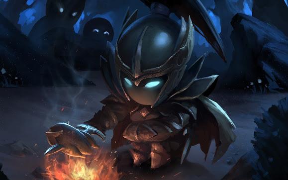 phantom assassin mortred cute chibi dota 2 hero game hd wallpaper