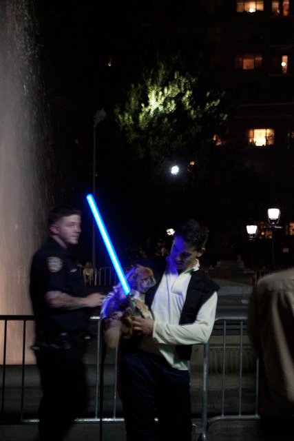 Largest Lightsaber Fight in the New York Park 04