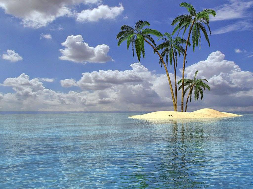 Wallpaper Pemandangan Pantai Pulau Indah Terbaru Almagalangi Indo