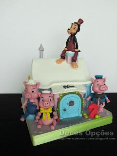 A casinha dos três porquinhos para o aniversário da Alice