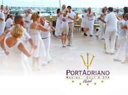Milonga de blanco en Hotel Port Adriano