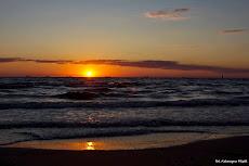 Wschód słońca na przystani rybackiej, sierpień 2013