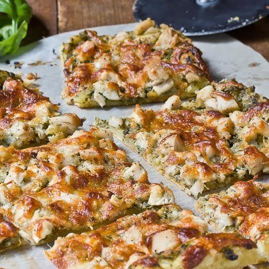 Pesto Chicken Tart | Cocinando con Alena