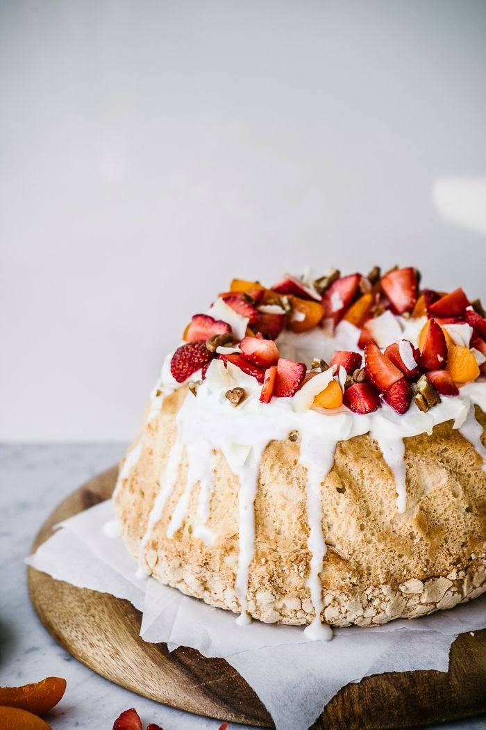 Coconut Angel Food Cake w/ Greek Yogurt Topping Recipe from Top With Cinnamon