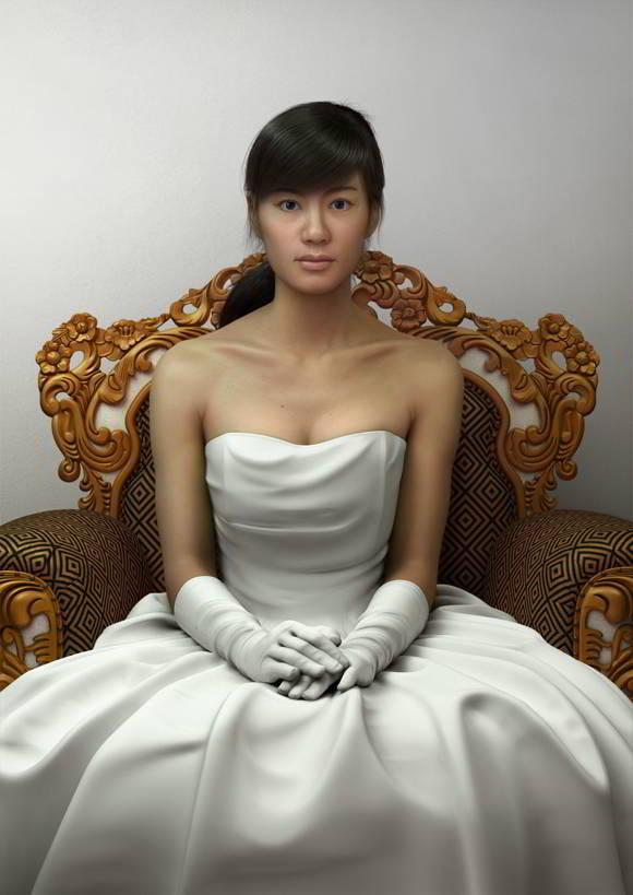Karya Dgital Art 3 Dimensi Jian Xu
