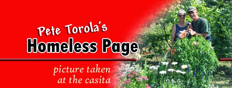 Pete Torola's Homeless Page