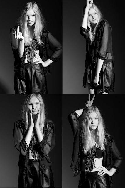 New Face Elya Bobileva: test shoots by Avrorin and Malguina