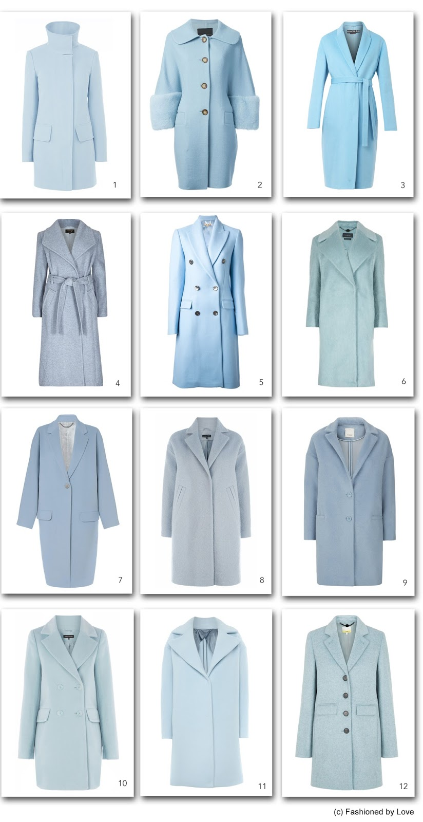 via fashioned by love | pastels in fall/winter 2014-2015 | trends | shopping | blue coats for winter 2014