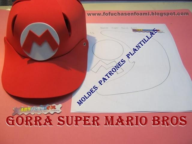 ... 2013 Artfoamicol: MOLDES PARA GORRAS EN FOAMY DE SUPER MARIO BROS