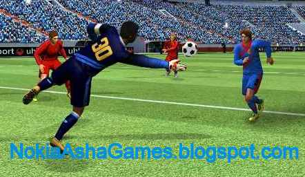 Real Football 2013 240x320 java game download for Nokia Asha 501