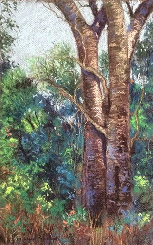 Soft pastel painting of Matheran Landscape by Manju Panchal