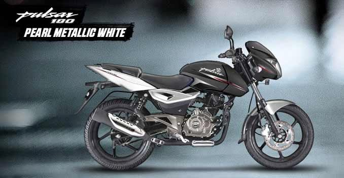 Bajaj Pulsar 180 metallic white