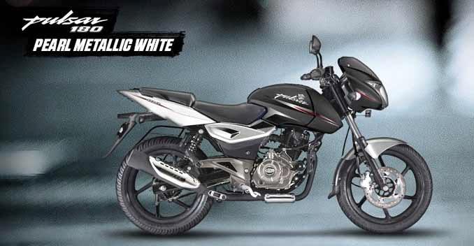 Bajaj Pulsar 180 metallic white