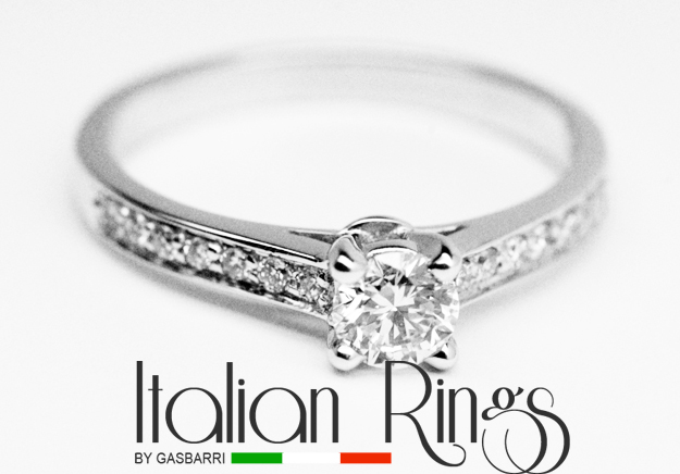 Italian Rings and Jewelry Elegant engagement ring 060