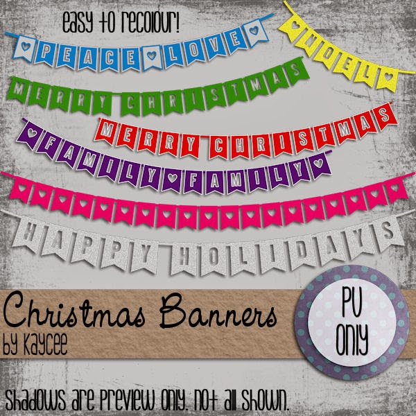 Free scrapbook christmas banners from KAYCEE