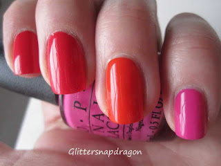 Opi red lights ahead ... where? OPI a roll in the Hague, OPI kiss me on the tulips