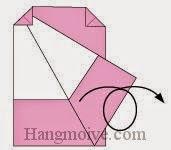 Bước 6: Lật ngược mặt đằng sau tờ giấy ra đằng trước.