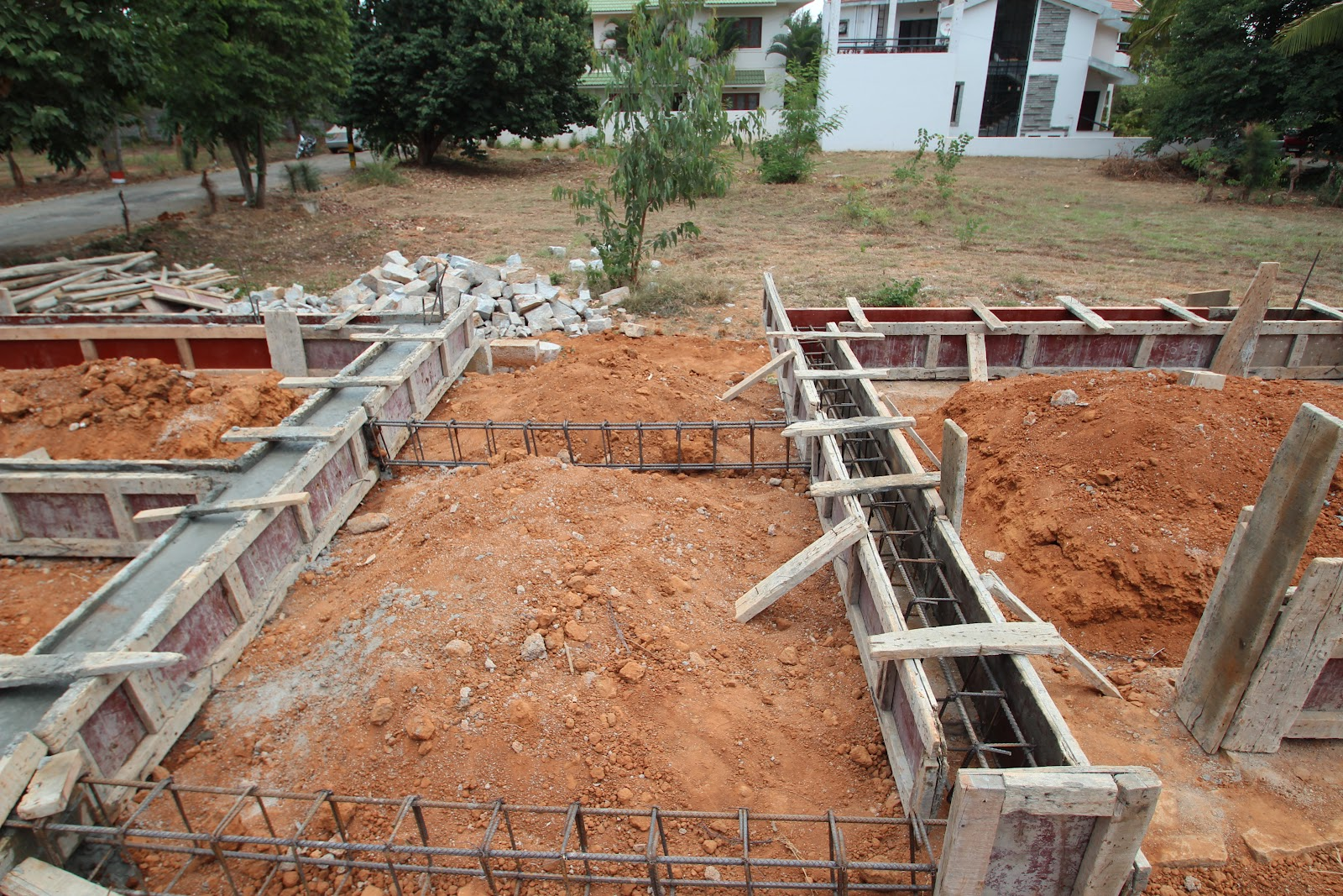 Building house in india step by step for Steps on building a house