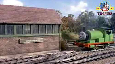 Percy the tank engine was waiting on the Gordon passenger express line for railtrack the signal man