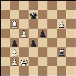 Partida de ajedrez Rico - Prins, posición después de 50.c5
