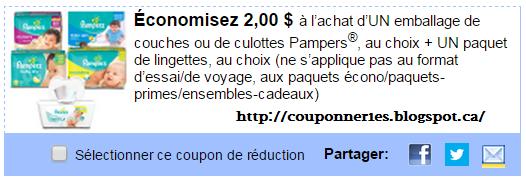 Coupons et circulaires 2 00 sur pampers - Combien coute un paquet de couche pampers ...