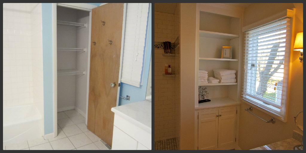gallery for bathroom built in corner cabinet