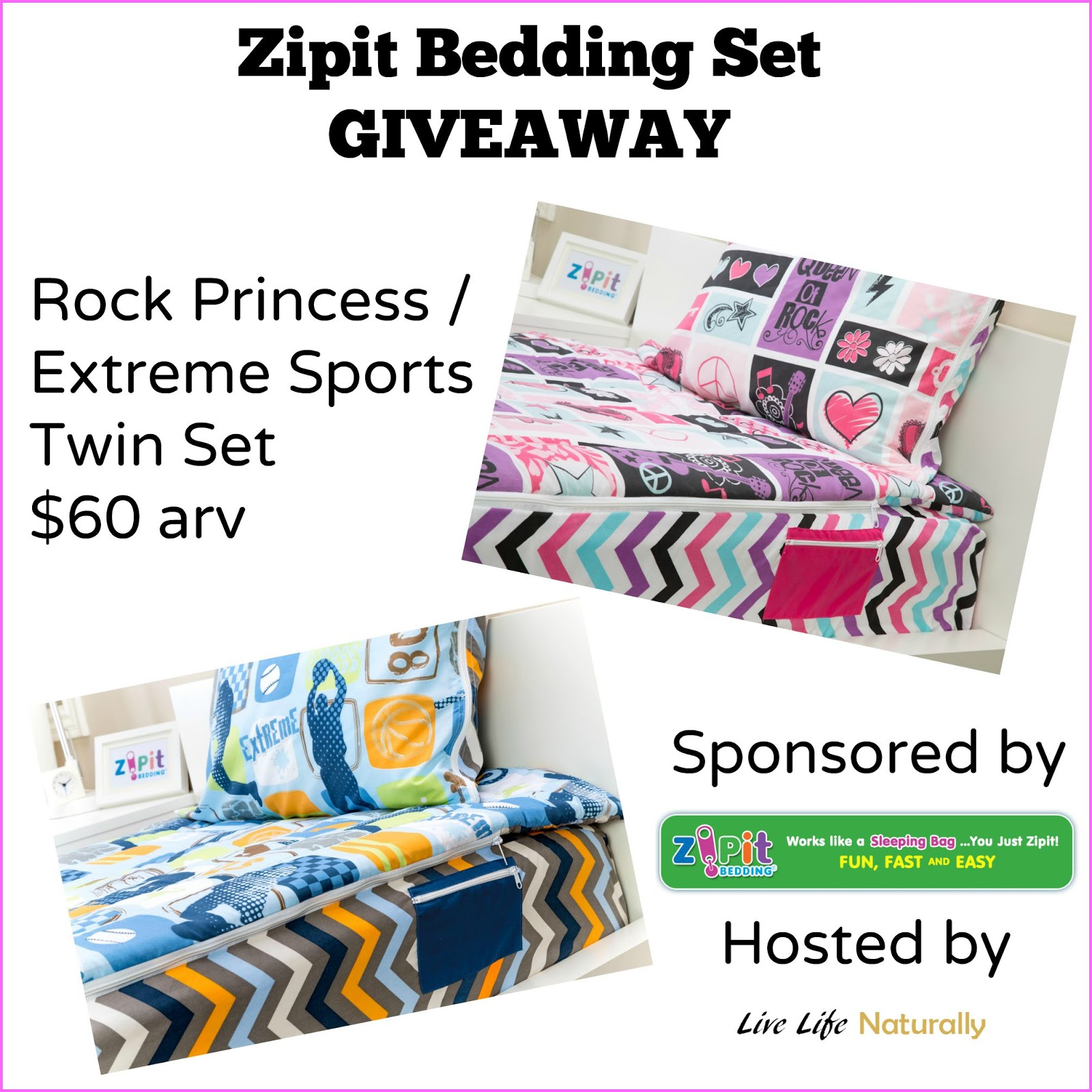 Superb Zipit Bedding Set Giveaway