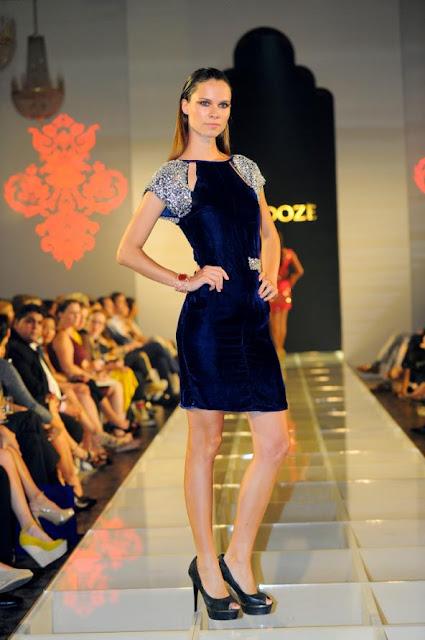 Blue cocktail dress from Zardoze