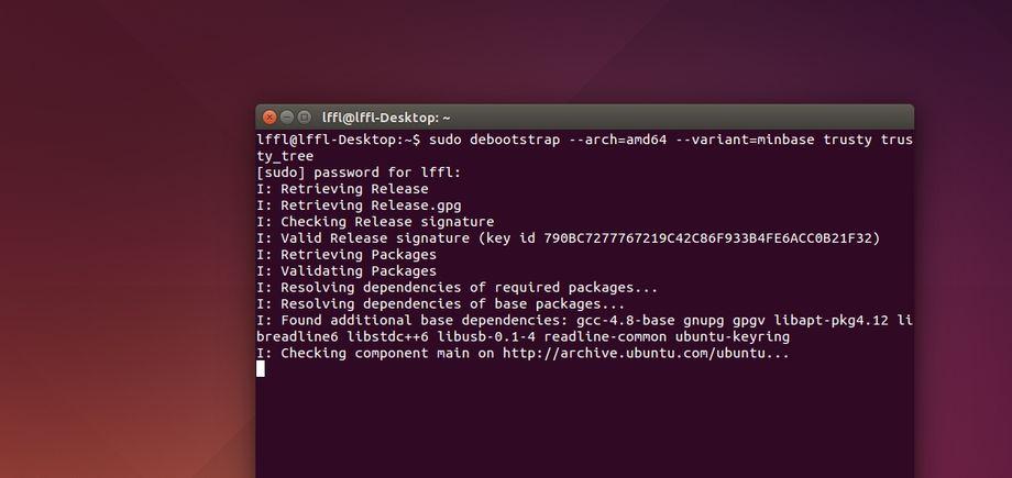 debootstrap in Ubuntu