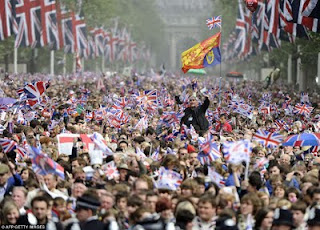 People watching Kate Middleton Prince William Royal Wedding