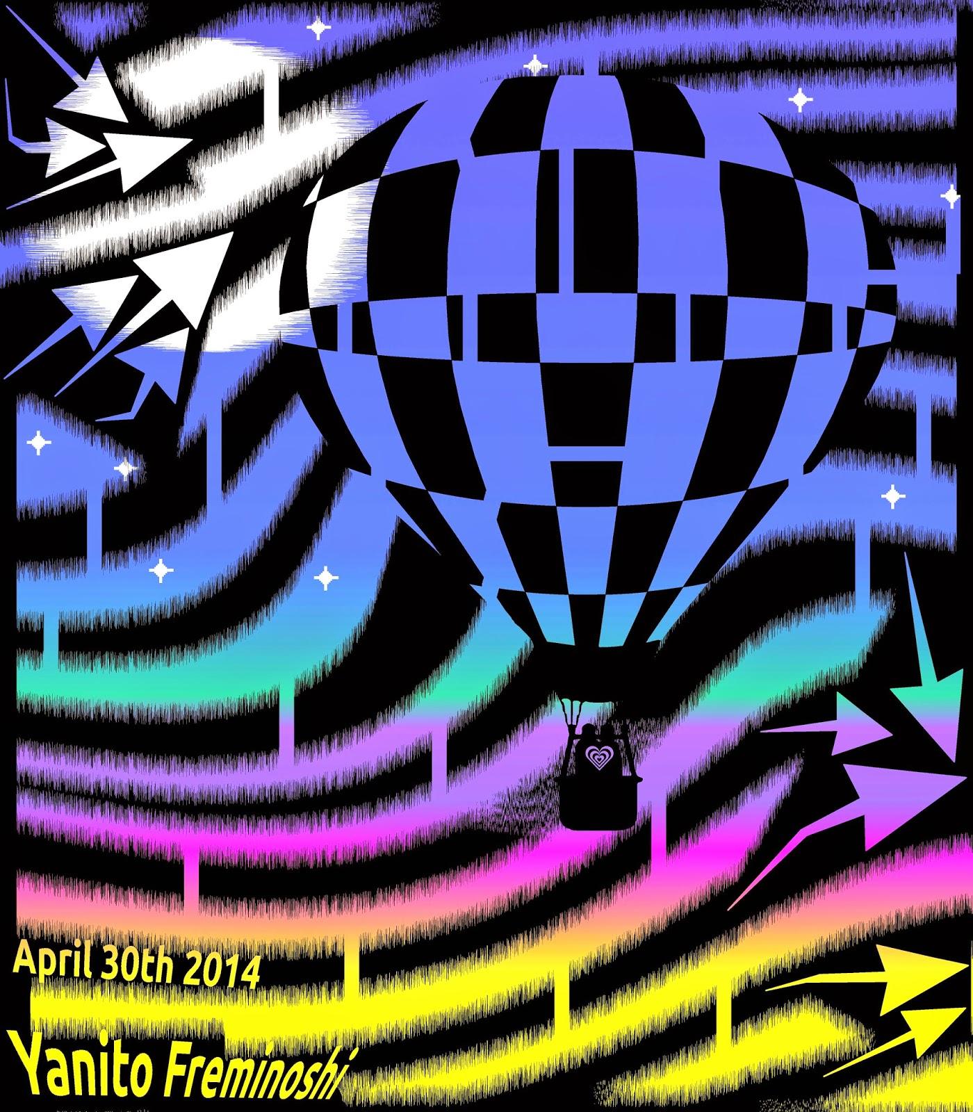 hot air balloon maze night flight