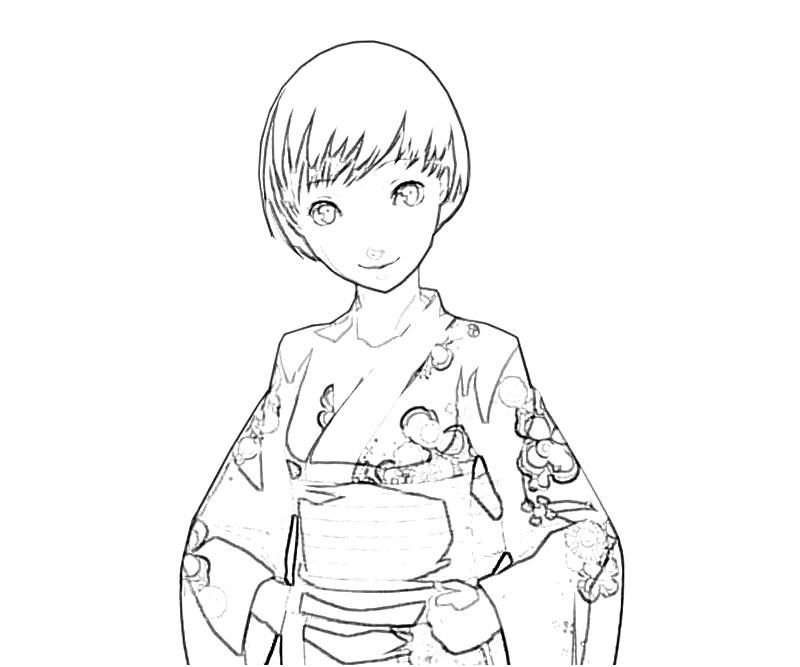 printable-chie-satonaka-traditional-dress-coloring-pages