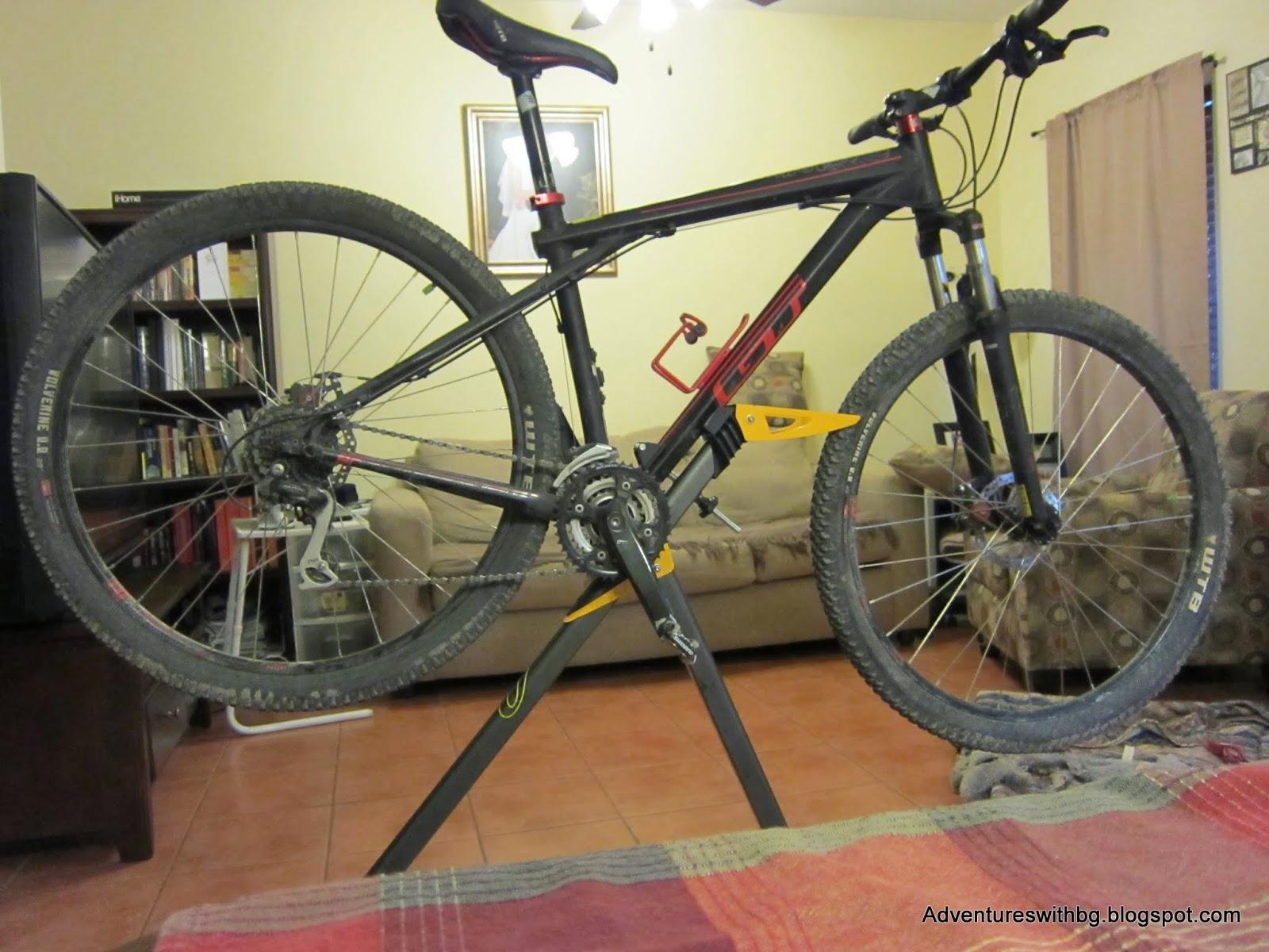 I use a bike stand to make maintenance a little easier